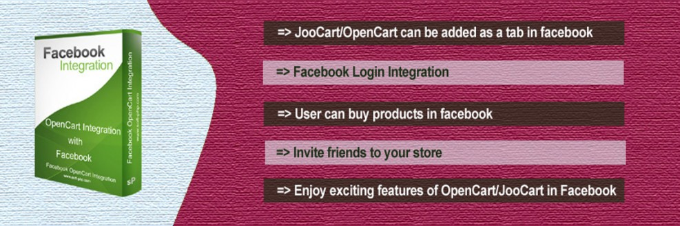 OpenCart Integration with facebook